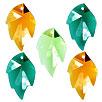 CRYSTALLIZED™ #6735 Crystal Leaf Pendants