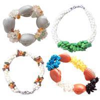 Gemstone Shell Bracelets
