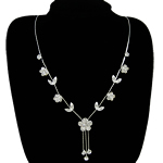 Rhinestone Brass Necklace, with rhinestone, nickel, lead & cadmium free, 15mm, Sold Per 16.5 Inch Strand