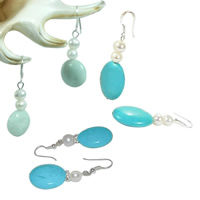 Turquoise Freshwater Pearl Earring