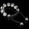 Rhinestone Shamballa Bracelets, with Hematite, handmade, with Czech rhinestone, 10-12mm, Sold Per 6-10 Inch Strand