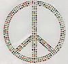 Rhinestone Hot Fix Motif, Peace Logo, Grade AA, 221x210mm, Sold By PC