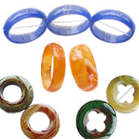 Ring Agate Beads