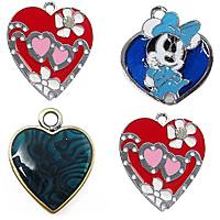 Heart Enamel Pendant