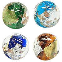 Silver & Gold Foil Lampwork Beads
