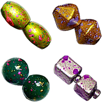 Fancy Spot Glass Beads