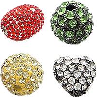 Rhinestone Zinc Alloy Beads