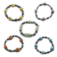 Porcelain Beads Magnetic Bracelets
