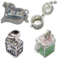 Zinc Alloy European Prayer Box Pendants