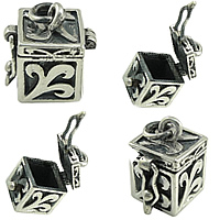 Sterling Silver European Prayer Box Pendants