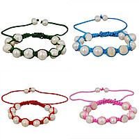 Freshwater Pearl Shamballa Bracelets
