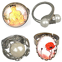 Glass Jewelry Finger Ring