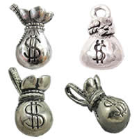 Zinc Alloy Money Bag Pendants