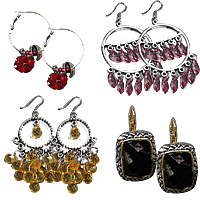 Crystal Metal Alloy Earring