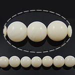 Natural Coral Beads, Round, different size for choice, white, Grade A, Length:Approx 16 Inch, Sold By Strand