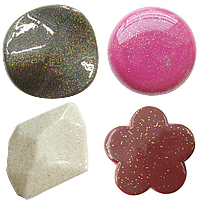 Shining Powder Acrylic Beads