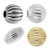 Sterling Silver Corrugated Beads