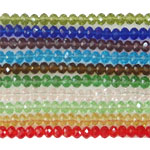 Mixed Crystal Beads, Rondelle, faceted, 6x8mm, Length:17 Inch, 50Strands/Lot, 72PCs/Strand, Sold By Lot