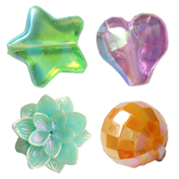 Colorful Plated Plastic Beads