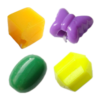 Solid Color Plastic Beads