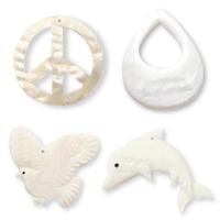 White Shell Pendants