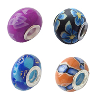 Sterling Silver Core European Polymer Clay Beads