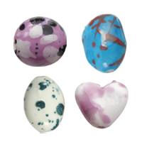 Speckled Porcelain Beads