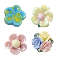 Flower Porcelain Beads