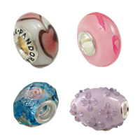 Sterling Silver Core Lampwork European Beads