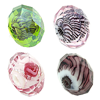Faceted Lampwork Beads