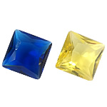 Crystal Cabochons, Square, rivoli back & faceted, more colors for choice, 10x10x6mm, Sold By PC