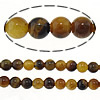Tiger Eye Beads, Round, different size for choice, Hole:Approx 0.5mm, Length:15.5 Inch, Sold By Strand