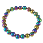 Hematite Bracelet, rainbow, different styles for choice, Length:7 Inch, Sold By Strand