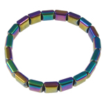 Hematite Bracelet, colorful, different styles for choice, 10x10mm, Length:6.5 Inch, Sold By Strand