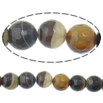 Natural Lace Agate Beads, Round, more sizes for choice & faceted, coffee color, Hole:Approx 2mm, Length:Approx 15 Inch, Sold By Strand