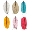 Feather Pendants, more colors for choice, approx 100x50mm, Hole:Approx 2mm, Sold By PC