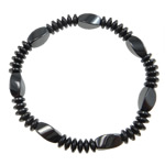 Hematite Bracelet, different styles for choice, Grade A, 8x12mm,6mm, Length:7.5 Inch, Sold By Strand