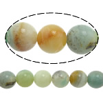 Amazonite Beads, Round, natural, more sizes for choice, Hole:Approx 1-2mm, Length:Approx 15 Inch, Sold By Strand