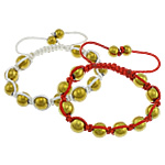 Hematite Shamballa Bracelets, with Nylon Cord, gold color plated, more colors for choice, 8mm, 10mm, Sold Per Approx 6-10 Inch Strand