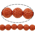 Carved Natural Coral Beads, Synthetic Coral, Round, more colors for choice, 11mm, Hole:Approx 1.5mm, Sold By PC