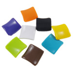 Stock Acrylic Beads Clearance, Rhombus, solid color, mixed colors, 30x30x5mm, Hole:Approx 1.5mm, 5KG/Lot, Approx 520PCs/KG, Sold By Lot