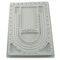 Bead Design Board, Plastic, Rectangle, 330x235mm, Sold By PC