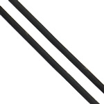 Rubber Cord, black, 2mm, Approx 63m/G, Sold By G
