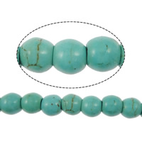 Synthetic Turquoise Beads, Round, blue, 4mm, Hole:Approx 1.5mm, Length:Approx 16 Inch, Approx 106PCs/Strand, Sold By Strand