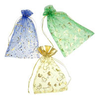 Organza Jewelry Pouches, mixed, mixed colors, 10x12cm-15x20cm, Sold By PC