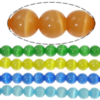 Cats Eye Beads, Round, more colors for choice, 10mm, Length:14-14.5 Inch, Approx 39PCs/Strand, Sold By Strand