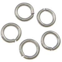 Machine Cut Stainless Steel Closed Jump Ring, 304 Stainless Steel, Donut, original color, 2.5x0.6mm, 78000PCs/KG, Sold By KG