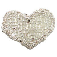 Fiber Magic Hair Pad, with Plastic Sequin, Heart, 70x50mm, 60PCs/Lot, Sold By Lot