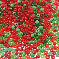 Mixed Glass Seed Beads, Round, mixed colors, Hole:Approx 1mm, 15000PCs/Bag, Sold By Bag