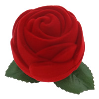 Velveteen Wedding Candy Box, with Cloth & Plastic, Flower, red, nickel, lead & cadmium free, 50x50mm, Sold By PC